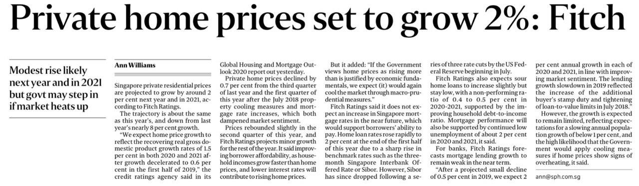 Private home prices set to grow 2%